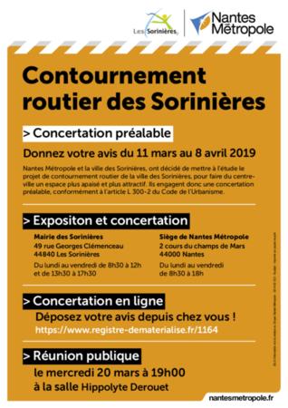 Contournement routier des Sorinières : réunion publique