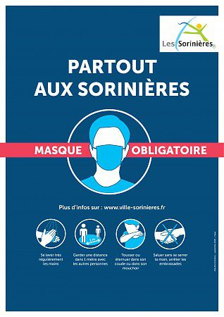 Le port du masque devient obligatoire aux Sorinières