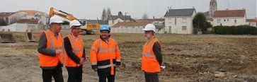 Les �lus sur le chantier en mars 2015.