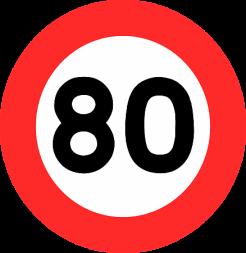 Baisse de la vitesse maximale à 80 km/h