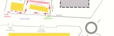 Chantier salle de sport : une nouvelle zone de stationnement