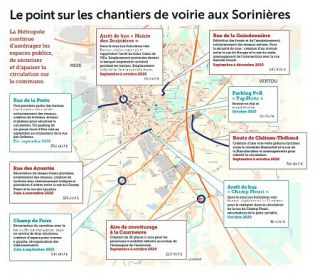 Le point sur les chantiers de voirie aux Sorinières