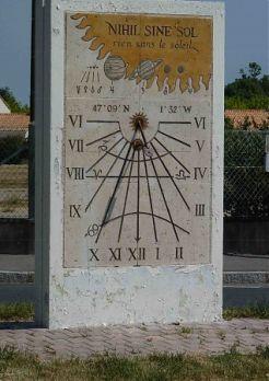 Le cadran solaire des Sorinières