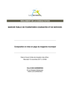 RC 2017 Composition et mise en page du magazine municipal
